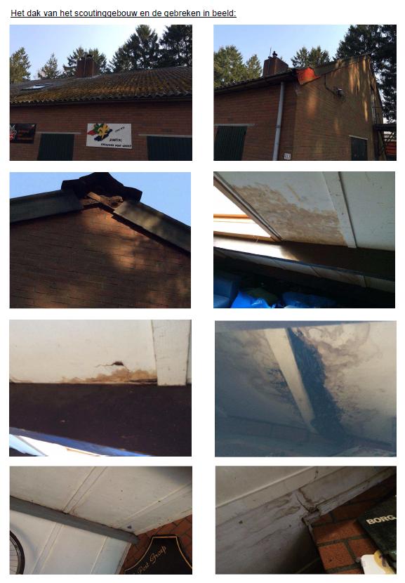 Overzicht gebreken dak gebouw