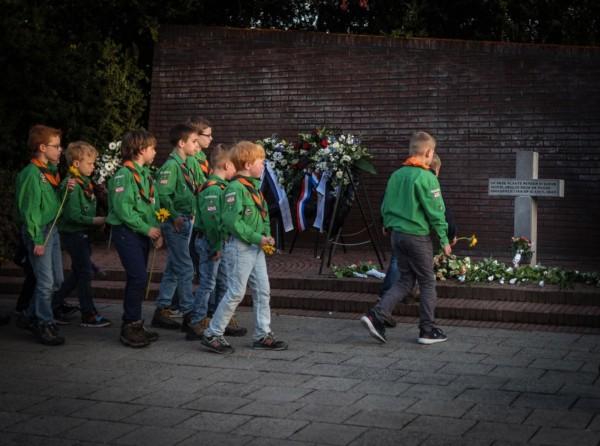 Scouts Dodenherdenking Assen 2016