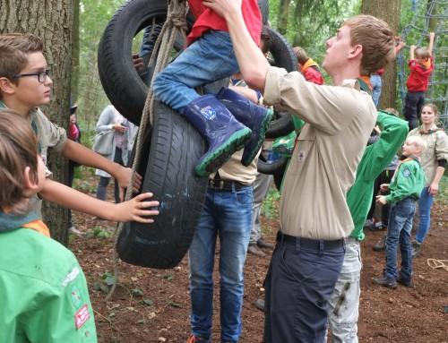 De jeugdleden helpen mee bij de aankoop van de grond: Sponsorloop 7 april 2018