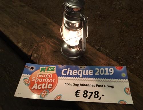 De JPG haalt €878 op bij de Poiesz Jeugd Sponsor Actie