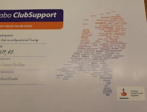 Dankzij Rabo ClubSupport €611,45 voor de nieuwe loods