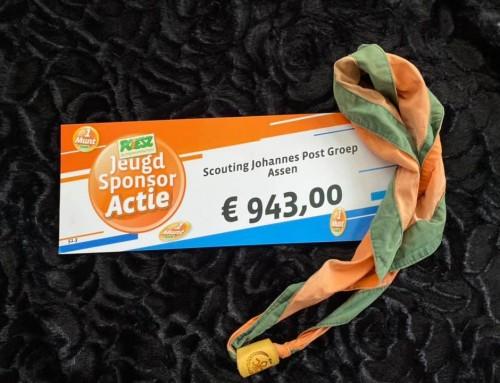 Trots ontvangen we 943 euro van de Poiesz Jeugd Sponsor Actie